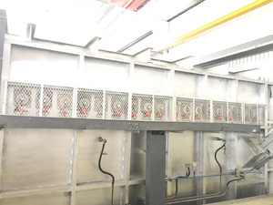 30T gas smelting furnace +30T electric heating holding furnace