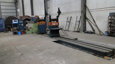 Wind motor balancing machine